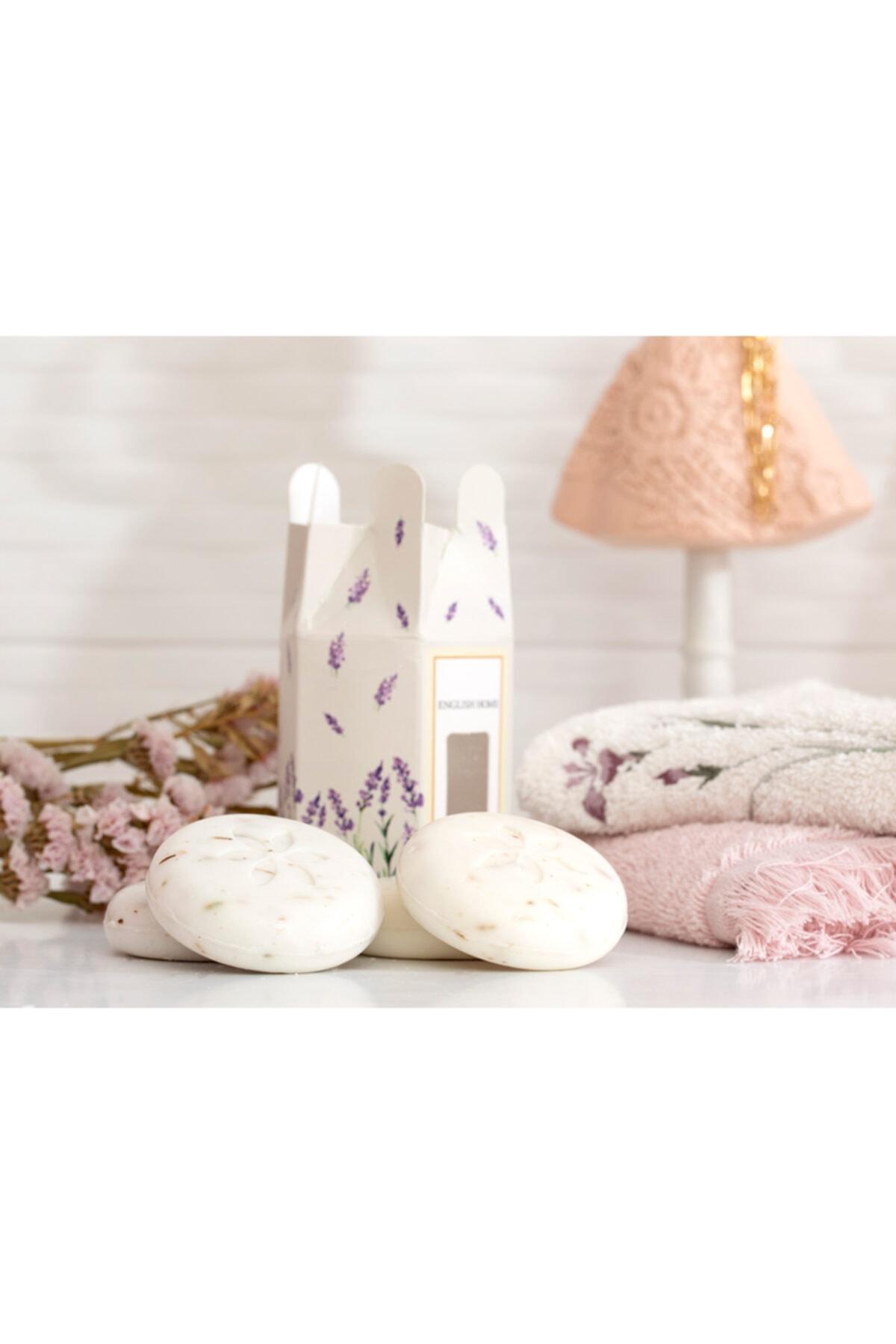 English Home Lavanta Özlü Katı Sabun 4x45 Gr Beyaz 2