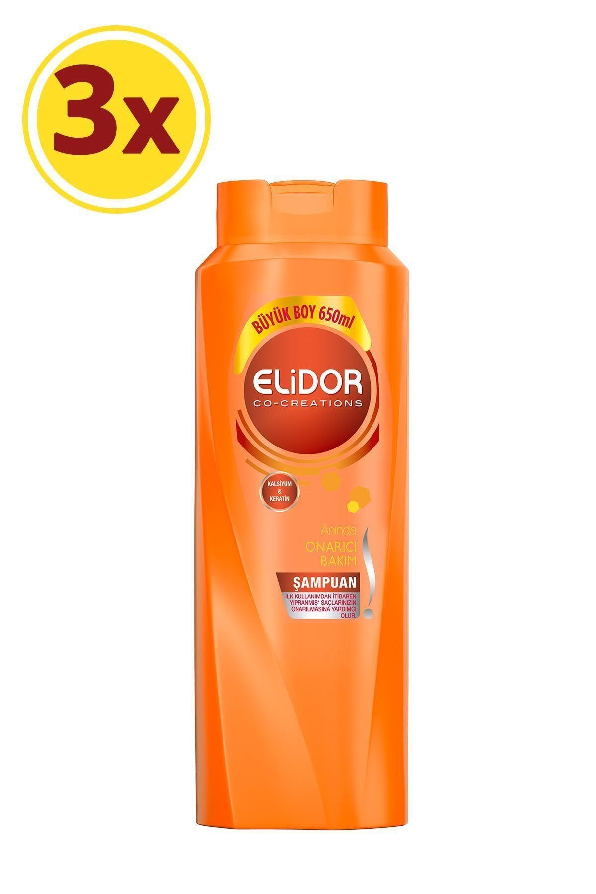 Elidor Anında Onarıcı Bakım Saç Bakım Şampuanı 650 ml X3 1