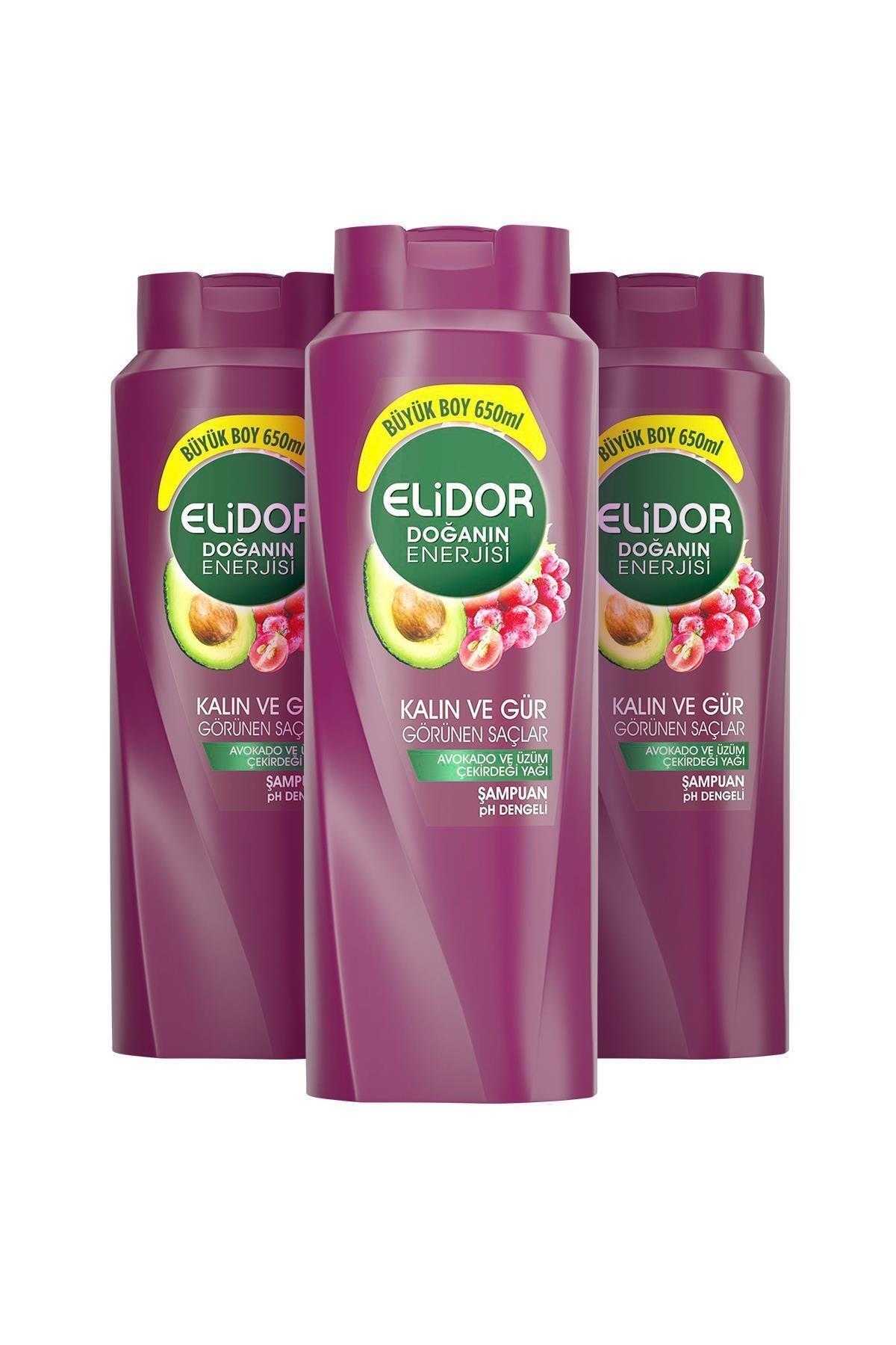 Elidor Doğanın Enerjisi Kalın Ve Gür Saçlar Avokado Özlü Saç Bakım Şampuanı 650 ml X3 2