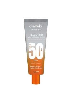 Dermokil Leke Karşıtı + Güneş Koruyucu Yüz Kremi 50 Spf Güneş Kremi Leke Kremi +50 Spf