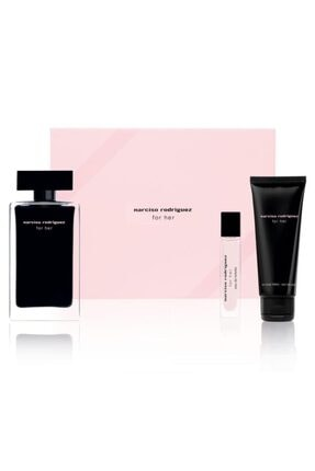 Narciso Rodriguez For Her Edt 100 ml + Edt 10 ml+ Body Lotion 75 ml