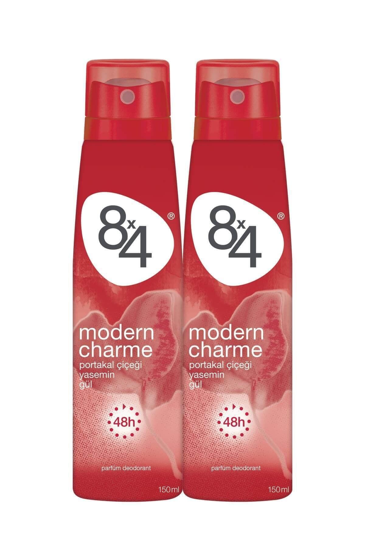 8x4 Modern Charme Kadın Deo Sprey 150 ml 2 Adet 1