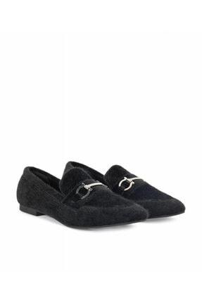 İpekyol Kadın Siyah Makosen Ayakkabı