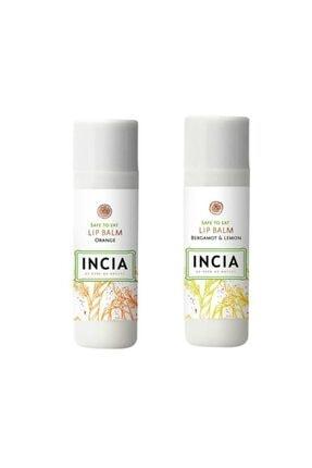 Incia Lip Balm Orange 6 gr 1 Adet - Bergamot Limon 1 Adet 1 Alana 1 Bedava