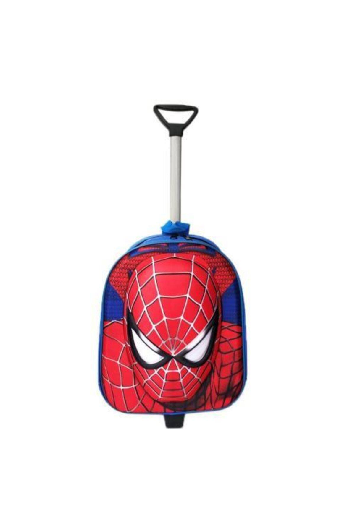 BigSale Spiderman Çekçekli Anaokulu Çantası 2in1 Örümcek Adam Çanta 3d 1