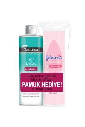 Neutrogena Skin Detox Micellar Water 400 ml + Johnson's Pamuk Hediye