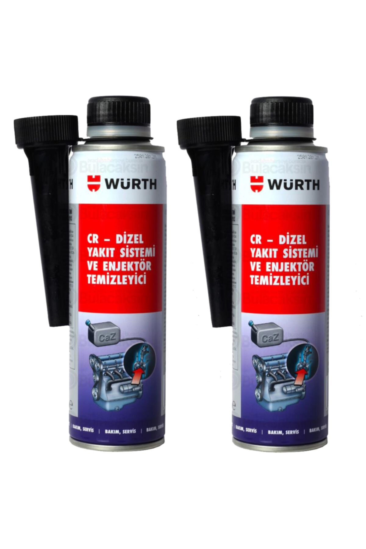 Würth 2x Dizel Enjektör Temizleyici Performans Iyileştirici 300ml 1
