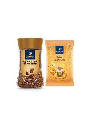 Tchibo Gold Selection 100 gr & 1 Adet Türk Kahvesi 100 gr
