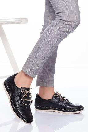 derithy Kadın Siyah Hakiki Deri Casual Ayakkabı