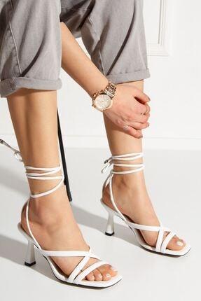 derithy Kadın Beyaz Rapina Topuklu Ayakkabı byc1702