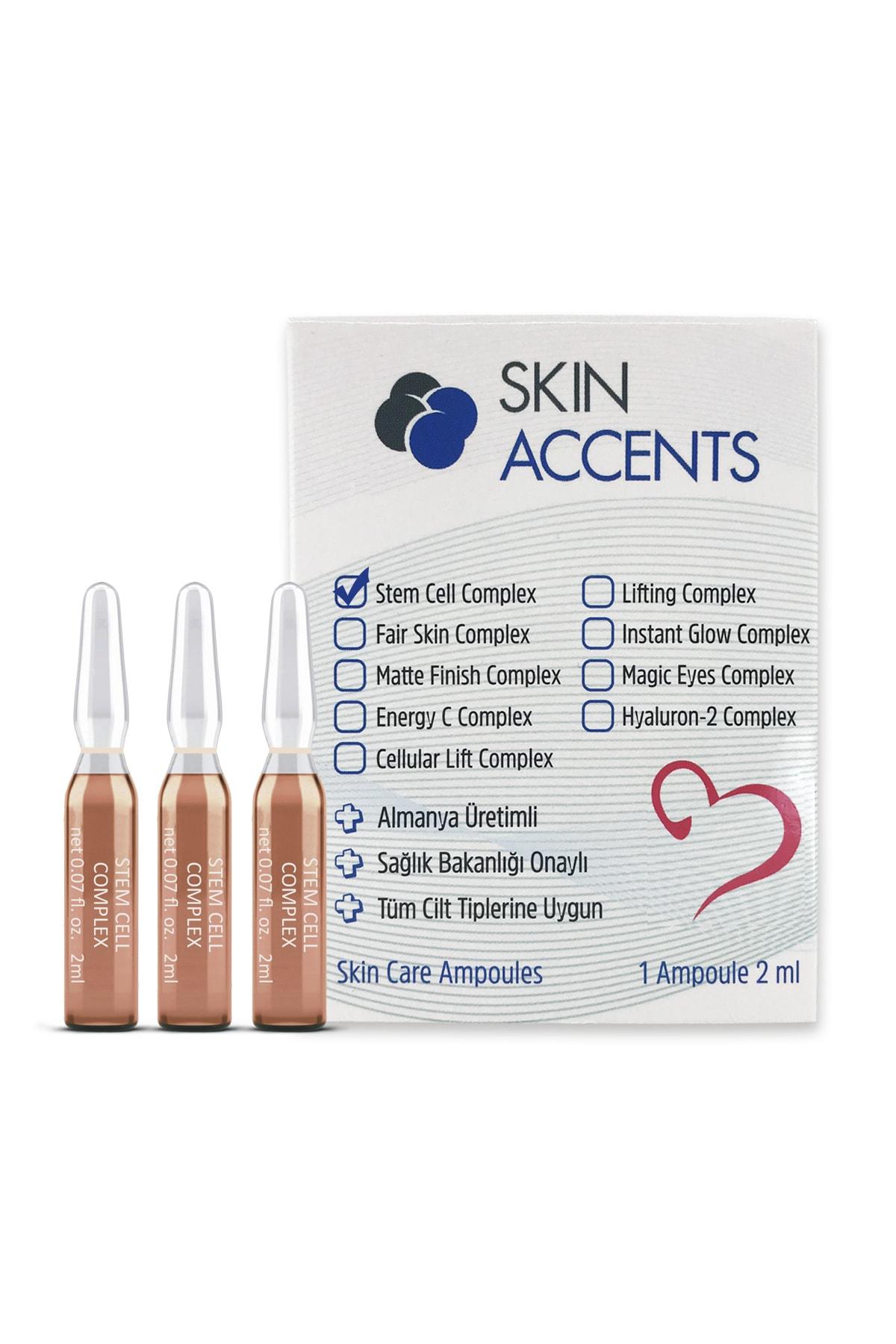 Skin Accents 3 Adet Kök Hücre Ampul Alman Serum Dermaroller Dermapen Cilt Bakım Serumu 1