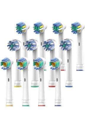 SoftBristles Yedek Fırça Başlıkları Oral B Ile Uyumlu 12 Elektrikli Ve Pilli Diş Fırçası