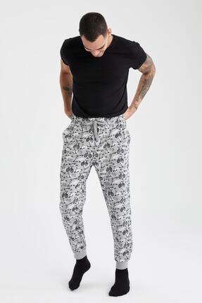 DeFacto Erkek Slim Fit Desenli Jogger Pijama Altı