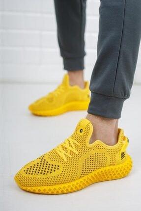 DUNLOP Erkek Sarı Triko Sneaker Spor Ayakkabı 1020