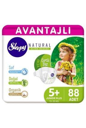 Sleepy Natural Avantajlı Bebek Bezi 5+ Numara Junior Plus 88 Adet