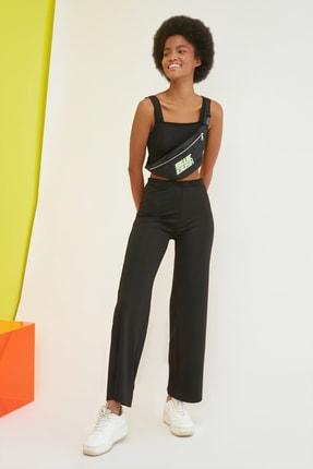 TRENDYOLMİLLA Siyah Örme Pantolon TWOSS21PL0423