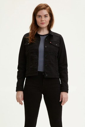 Levi's ® The Trucker Jacket Kadın Jean Ceket Siyah 29945-0038