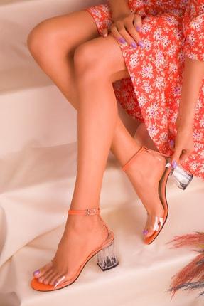 SOHO Turuncu Kadın Klasik Topuklu Ayakkabı 16132