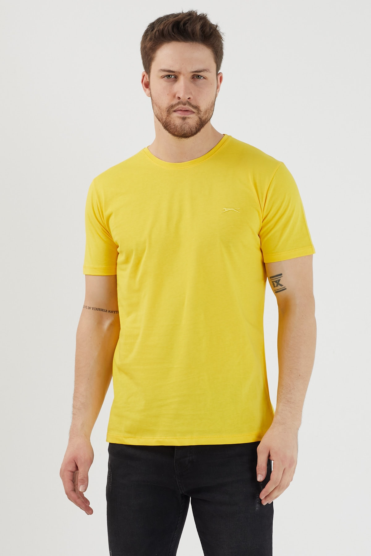 Slazenger SANDER Erkek T-Shirt Sarı ST11TE083