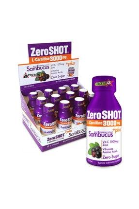 Zero Shot 60 ml 3000mg L-carnitine Plus Sambucus 12 Adet Kan Portakalı