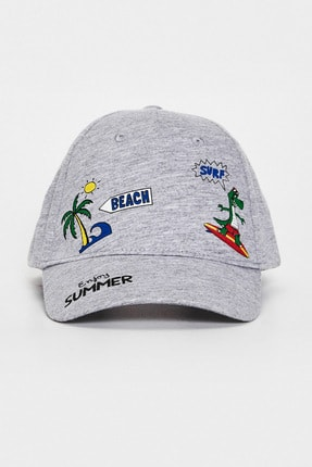 LC Waikiki Erkek Çocuk Gri Melanj Ct3 Şapka