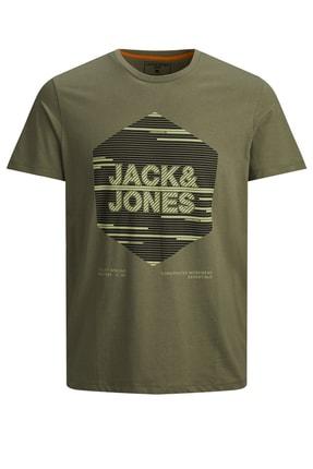 Jack & Jones Erkek Baskılı Yeşil T-shirt Jcokopa Tee Ss - 12188031