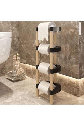 MOS'EV Ahşap Tuvalet Kağıtlık 17x15x55cm