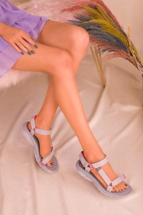 SOHO Gri-Fuşya Kadın Sandalet 16196