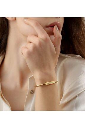 Sorti Takı Kadın Altın Renk Çelik Trend Bileklik