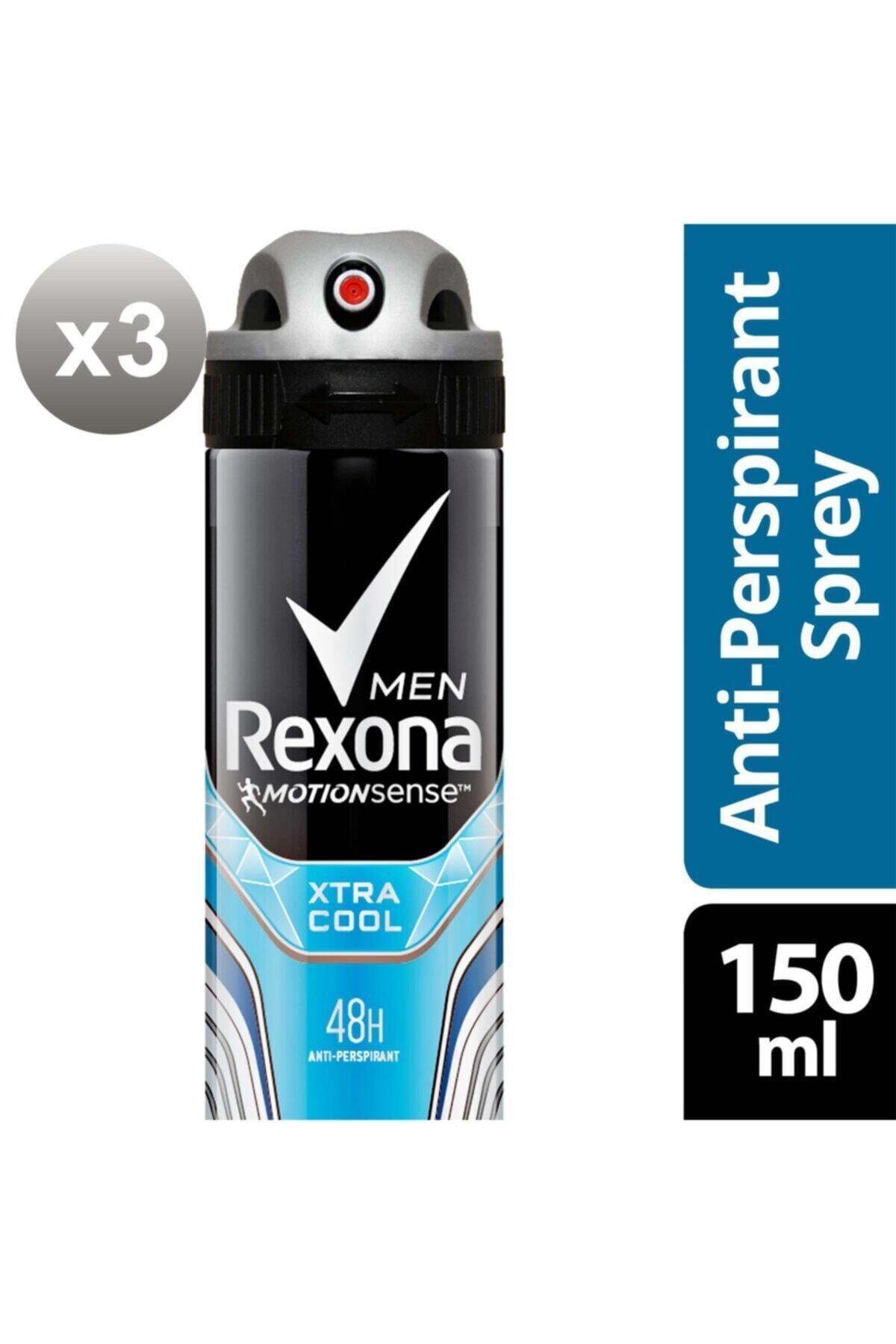 Rexona Erkek Deodorant Sprey Xtra Cool 150 ml X3 1