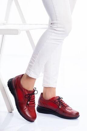 derithy Kadın Kırmızı Hakiki Deri Ayakkabı