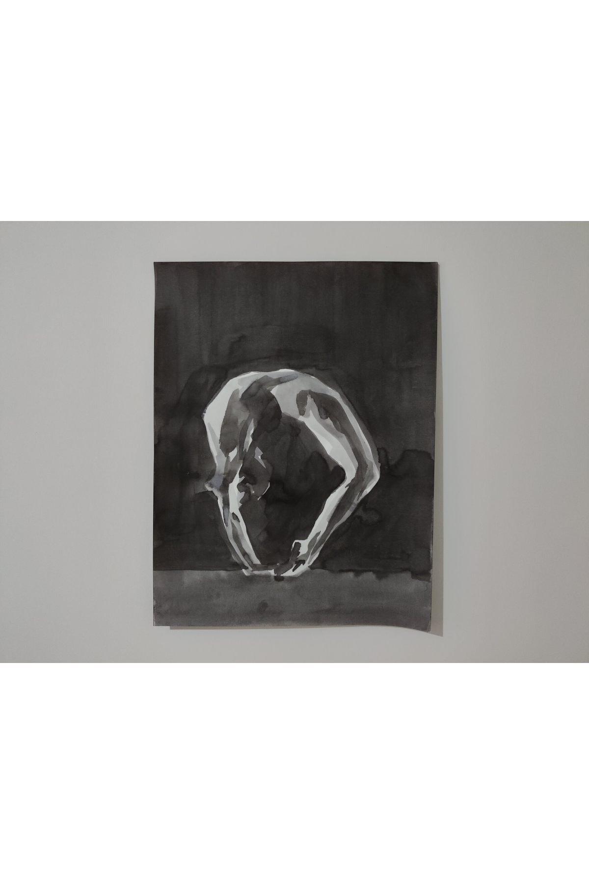 Gönül Esentürk Embodied Movements #16, 50x70,, Kağıt Üzerine Çini Mürekkebi 1