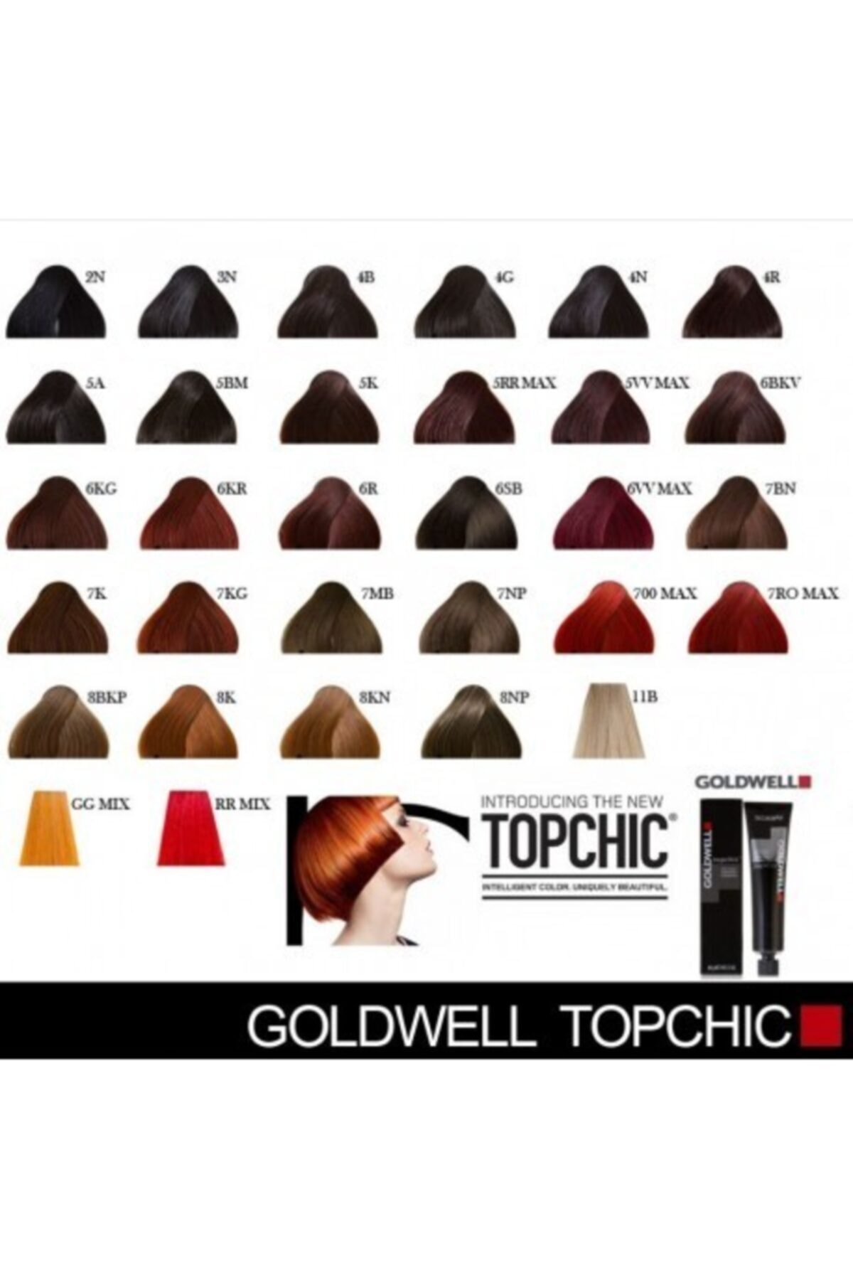 GOLDWELL Topchich Kalıcı Saç Boyası 60 Ml Tüp 2