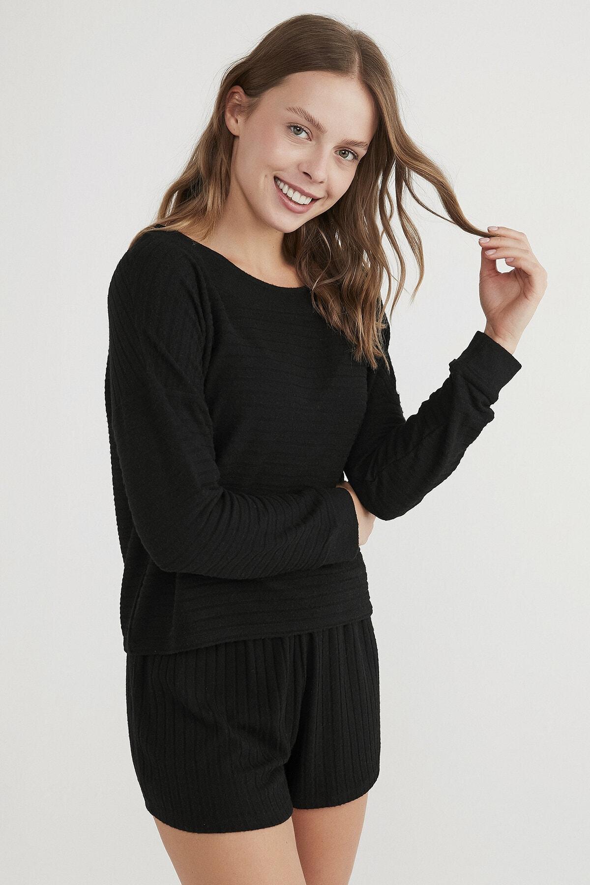 Penti Kadın Siyah Cool Night Sweatshirt