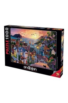 Anatolian Puzzle 1098 Sahilde Günbatımı Coastal Town At Sunset