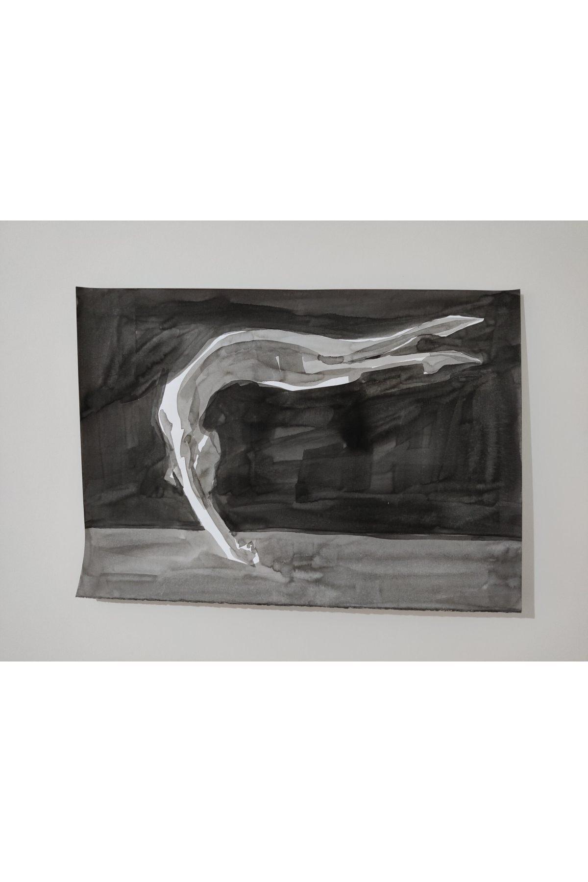 Gönül Esentürk Embodied Movements #11, 50x70,, Kağıt Üzerine Çini Mürekkebi 1