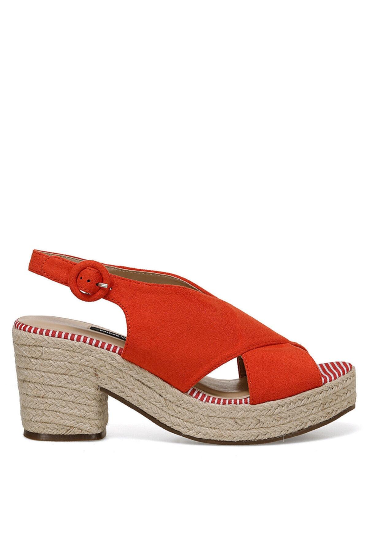 Nine West NORMINA Turuncu Kadın Dolgu Topuk Sandalet 100524805 1