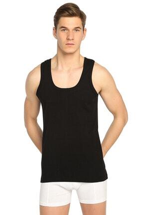 Tutku Erkek Siyah 6'lı Paket Ribana Klasik Atlet Elf568t0102ccm6