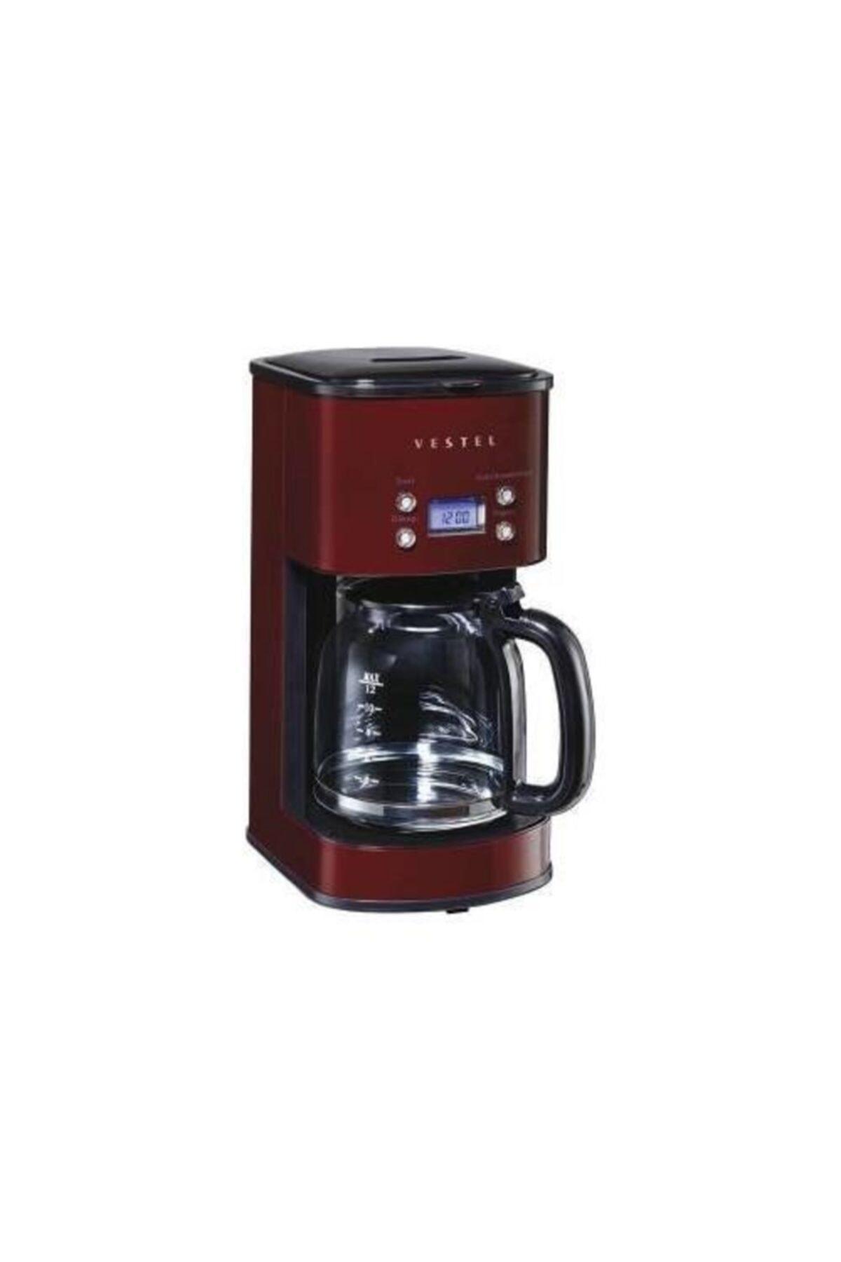 Vestel Retro Bordo Filtre Kahve Makinası 1000w 12 Fincan Kapasite 2