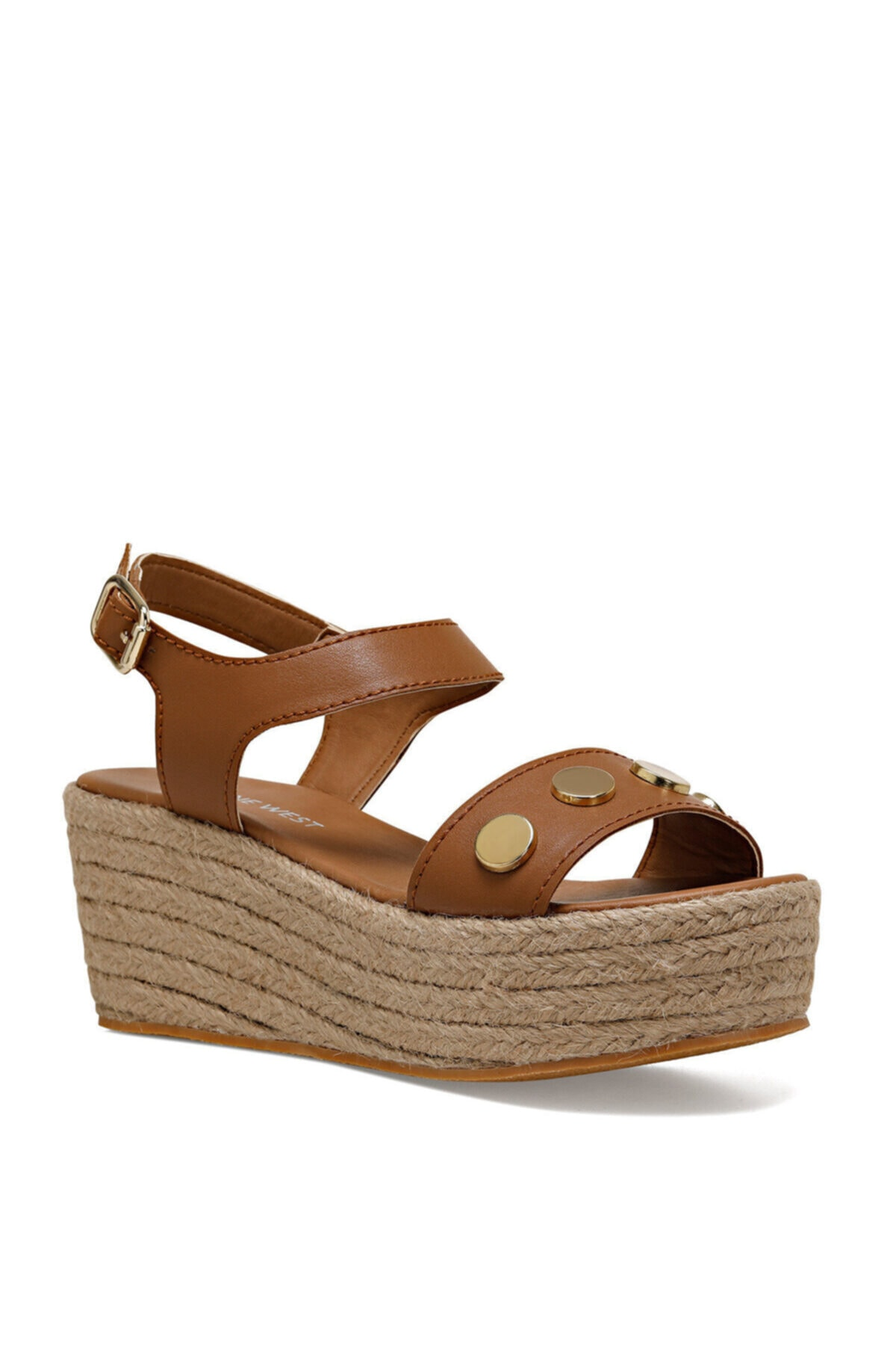 Nine West VALADON Taba Kadın Dolgu Topuklu Sandalet 100526221 2