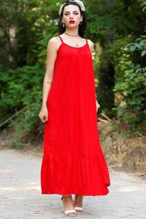 Lukas Kadın Kırmızı İp Askılı Elbise  20270.1234.
