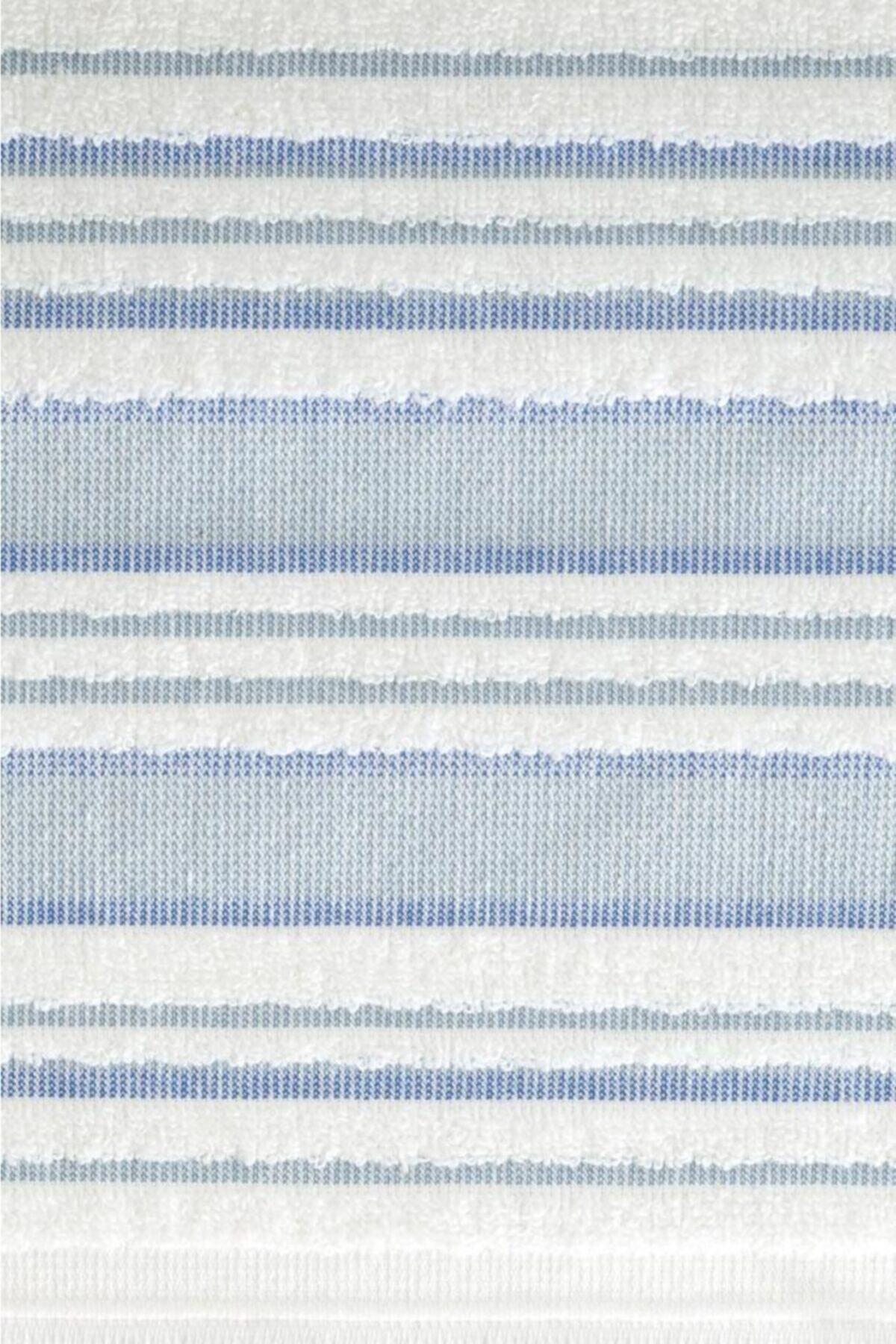 Louis Marie Mavi Banyo Havlu Takımı 70x140  50x90 2