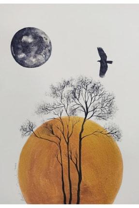 artoloji Emirhan Candan -  Kağıt Üzerine Suluboya, akrilik boya, 25x34cm, imzalı