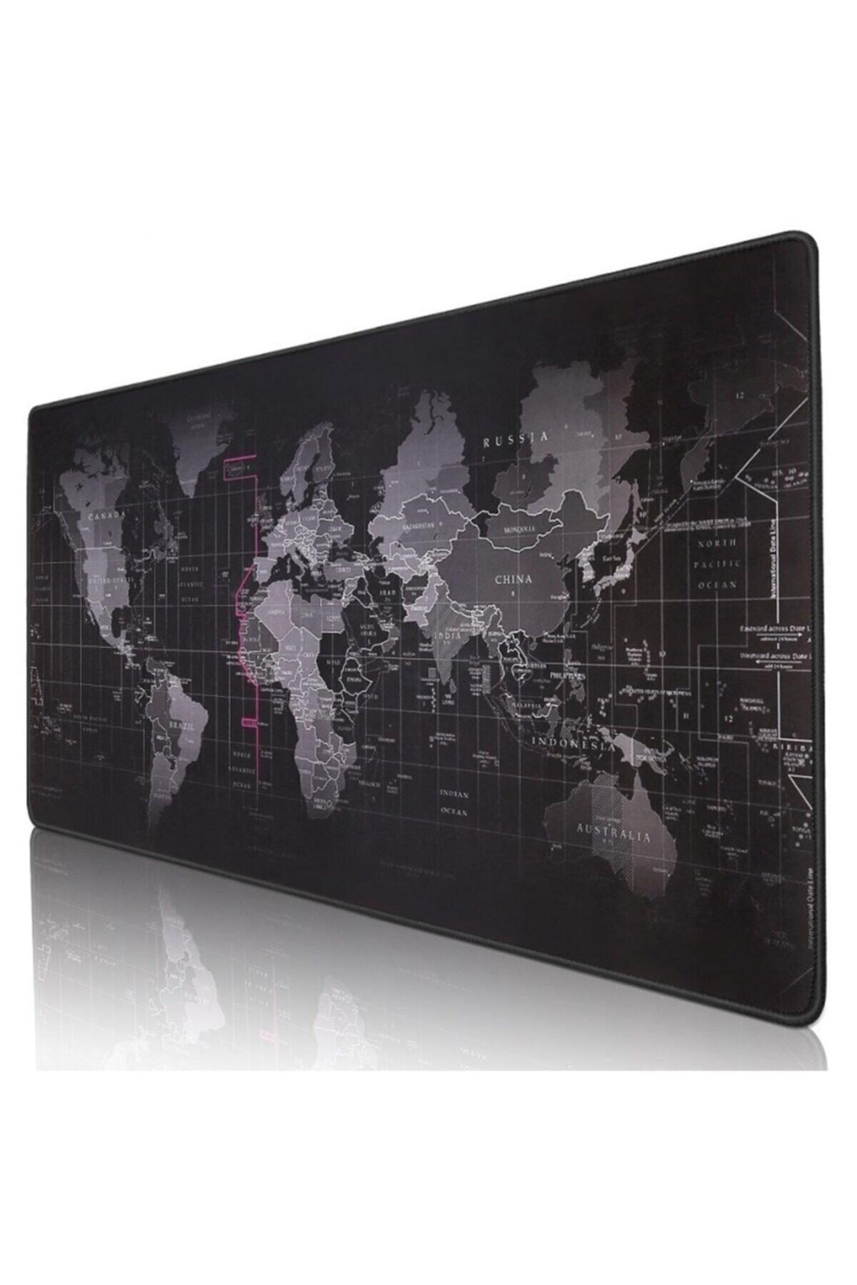 DALONG Dünya Haritalı Mouse Pad 90x40 cm 1