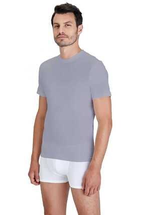 Kom Erkek Bisiklet Yaka 2li T-Shirt 44ts10051