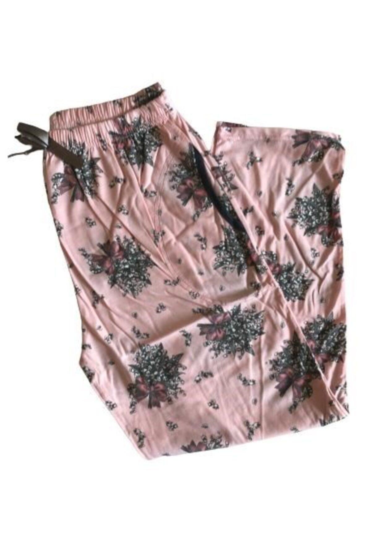 Pijamoni Bayan Battal Pijama Altı %100 Pamuk 1
