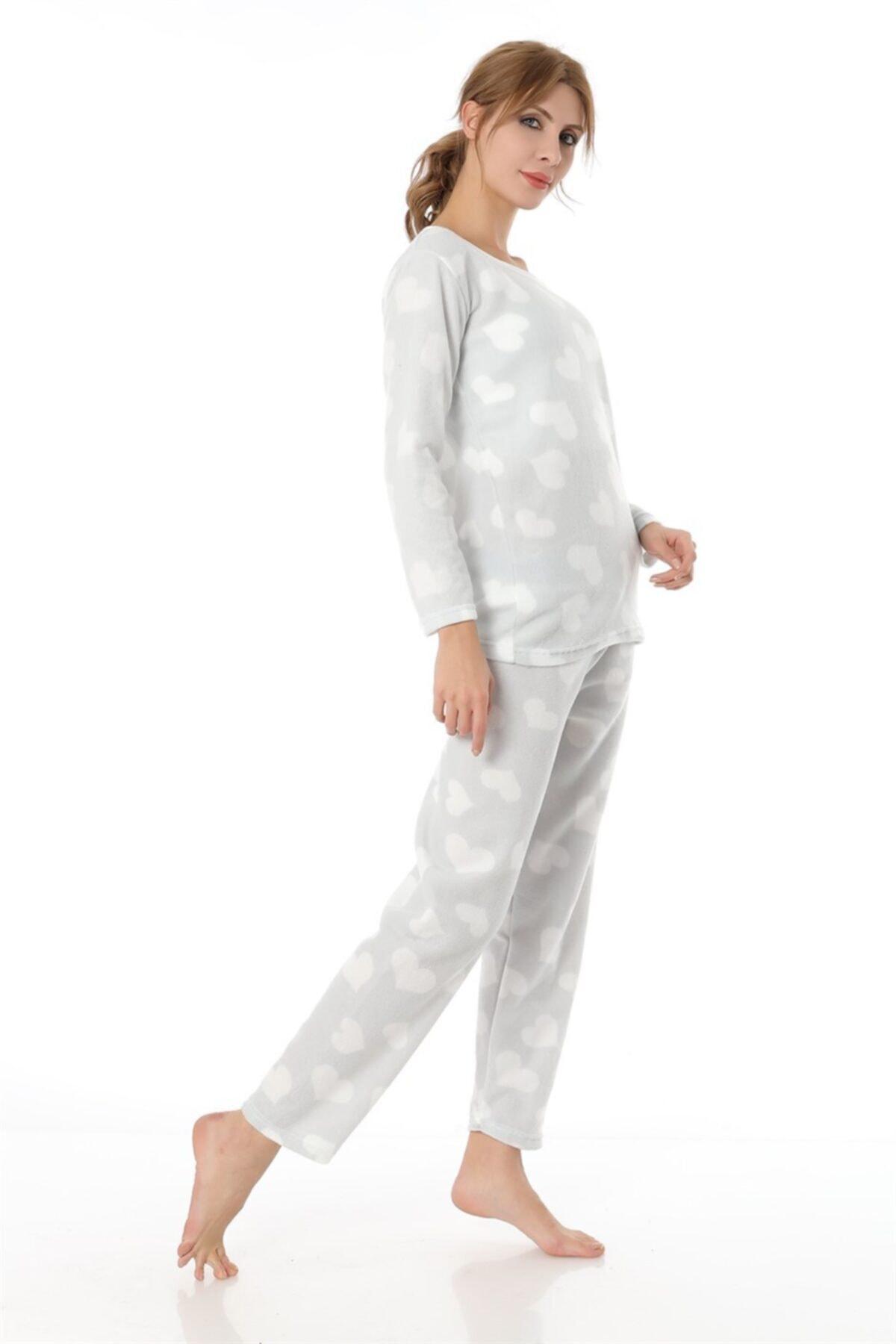 ZİNCiRMODA Polar Pijama Takımı - Gri 2