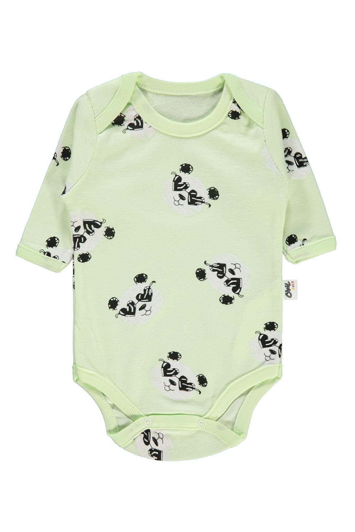 Civil Baby Kız Bebek Çıtçıtlı Badi 0-24 Ay Yeşil 1