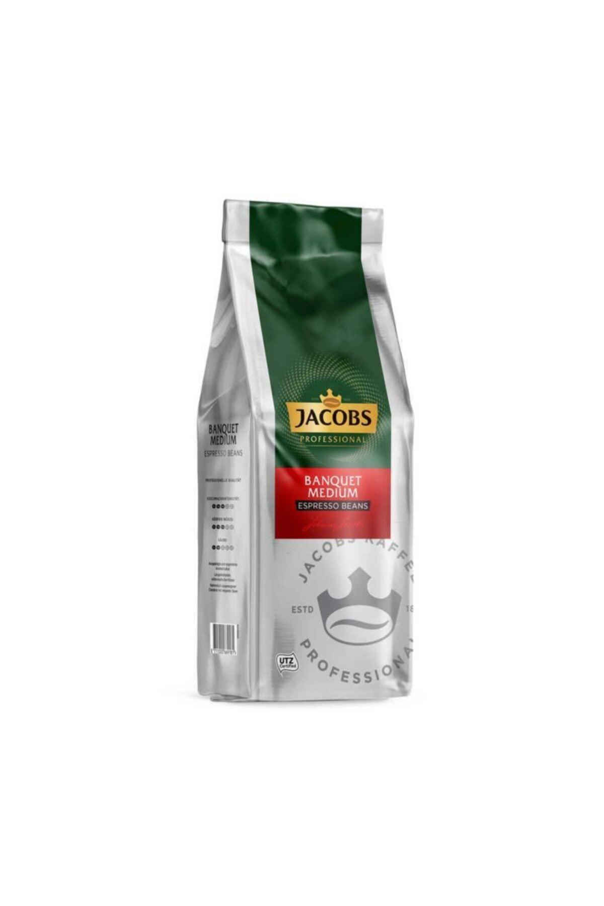 Jacobs Cafe Crema (Banquet Medium) Çekirdek Kahve 1 Kg 1