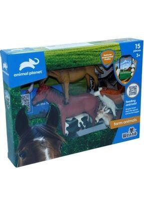 Vardem Wenno Oyuncak 15 Parça Çiftlik Hayvan Seti Mobil Uygulamalı